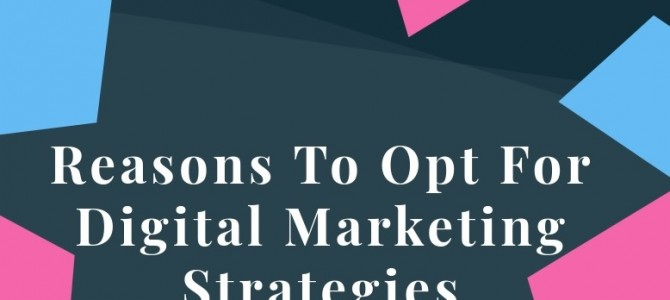 Reasons To Opt For Digital Marketing Strategies